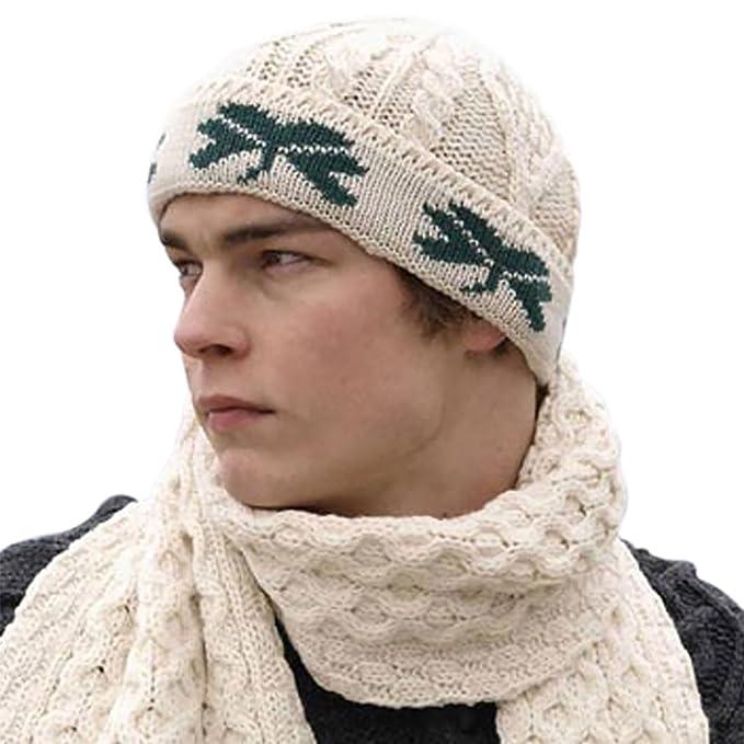 49ba6bed0 Amazon.com: Erin Knitwear Shamrock Wool Hat, Imported from Ireland ...