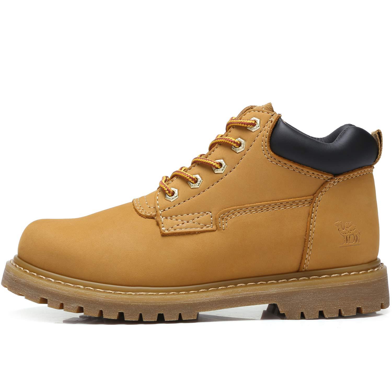 12e9e24fe893d CAMEL CROWN Botas de Trabajo para Hombre Zapatos de Trabajo de para Hombre  con Cordones Botas de Cuero de Moda Calzado de Seguridad  Amazon.es  Zapatos  y ...