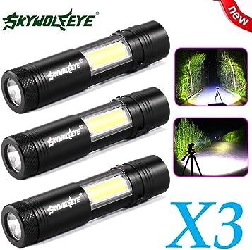 Mini Pocket Flashlight Newest CREE XML-T6//XPE COB LED  Work Light Penlight
