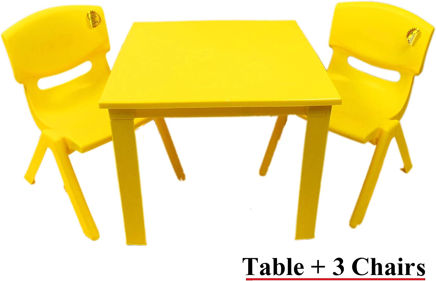 Kids Childrens Plastic Study Garden or Inside table and chairs set for Boys and Girls Red Blue Green Pink