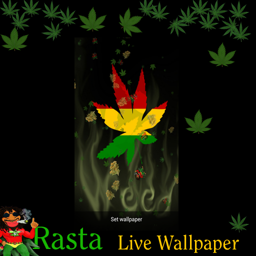 Amazoncom Live Wallpaper Rasta Marijuana Falling Pot Leaves