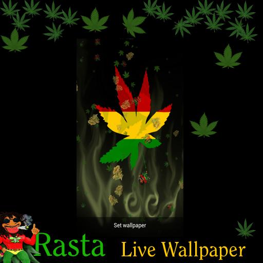 Amazon.com: Live Wallpaper - Rasta Marijuana Falling Pot