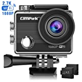 Action Cam, Campark ACT68 WIFI Sport Action Camera 1080P Full HD 12MP Impermeabile Videocamera con 2 batterie e kit accessory inclusi