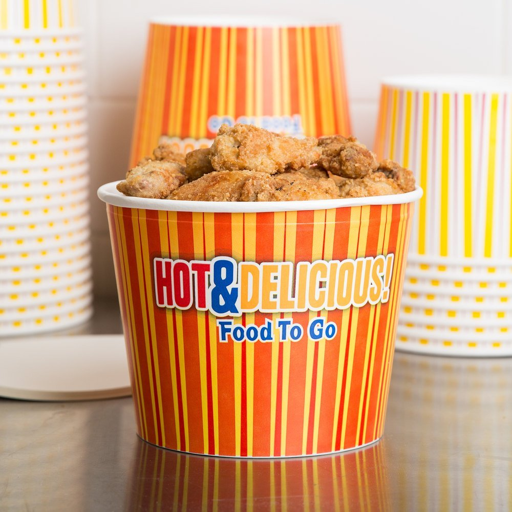 Choice 5 lb. Hot Food Bucket with Lid - 25 / Pack