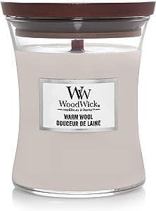WOODWICK Candle Medium Warm Wool 92052E