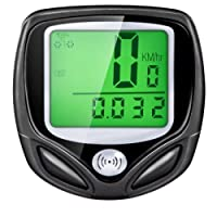 LUPO Wireless Bike Computer Waterproof Speedometer Odometer with Backlight LCD Display - Tracking Distance Average Speed Time