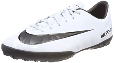 6a02978f1d3 NIKE Youth MercurialX Victory VI CR7 Turf Shoes  White  (1Y)