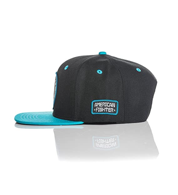 low priced b3beb 93271 ... American Fighter Men s Snapback Dugout Hat-One Size Black Crystal Blue  at Amazon Men ...