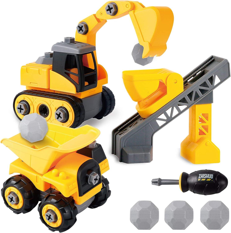 Construcción Volquete Excavadora JCB Camión Automóvil Vehículo Serie Juguetes Niños al Aire Libre