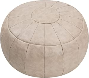 ROTOT Unstuffed Pouf Cover, Ottoman, Bean Bag Chair, Foot Stool, Foot Rest, Storage Solution or Wedding (Empty & New) (Mushroom)