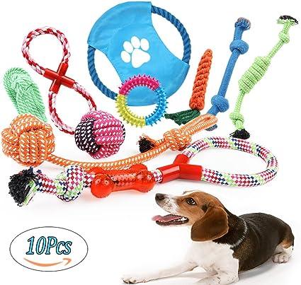 Juguetes de Cuerda para Perros 10 Piezas de Algodón Cuerda Juguete ...