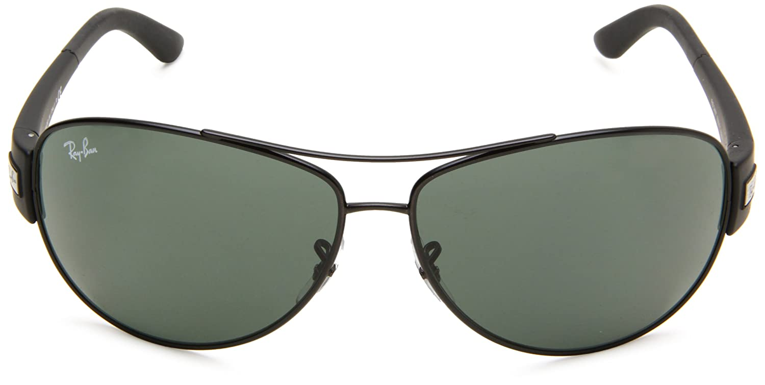 e3a08efa5a8 Amazon.com  Ray-Ban RB3467 - MATTE BLACK Frame GREEN Lenses 63mm  Non-Polarized  Clothing
