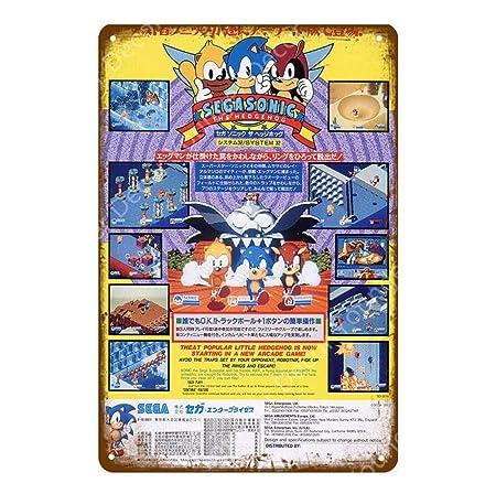 shovv Cartel de Chapa metálica Japón Videojuego Cartel ...