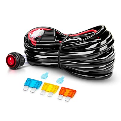 Nilight Off Road ATV/Jeep LED Light Bar Wiring Harness Kit 40 Amp Relay On/off Switch Included: Automotive