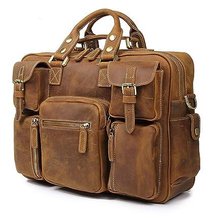 Amazon.com  Texbo Vintage Full Grain Cowhide Leather 15.6 Inch laptop  Briefcase Messenger Bag Tote  Computers   Accessories e3de61d574ad1