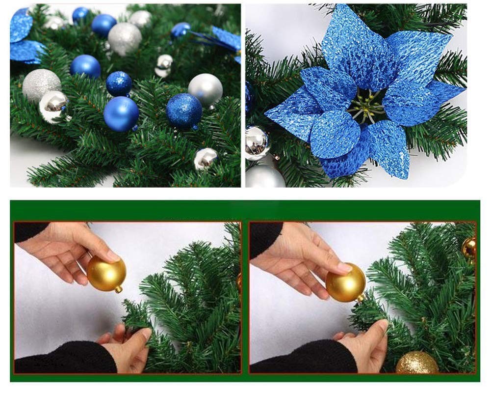 8.8 ft Christmas Rattan Christmas Artificial Flower Vine Plants Christmas Outdoor Decorations V-Best Christmas Garland Christmas Garland Lights Battery Operated