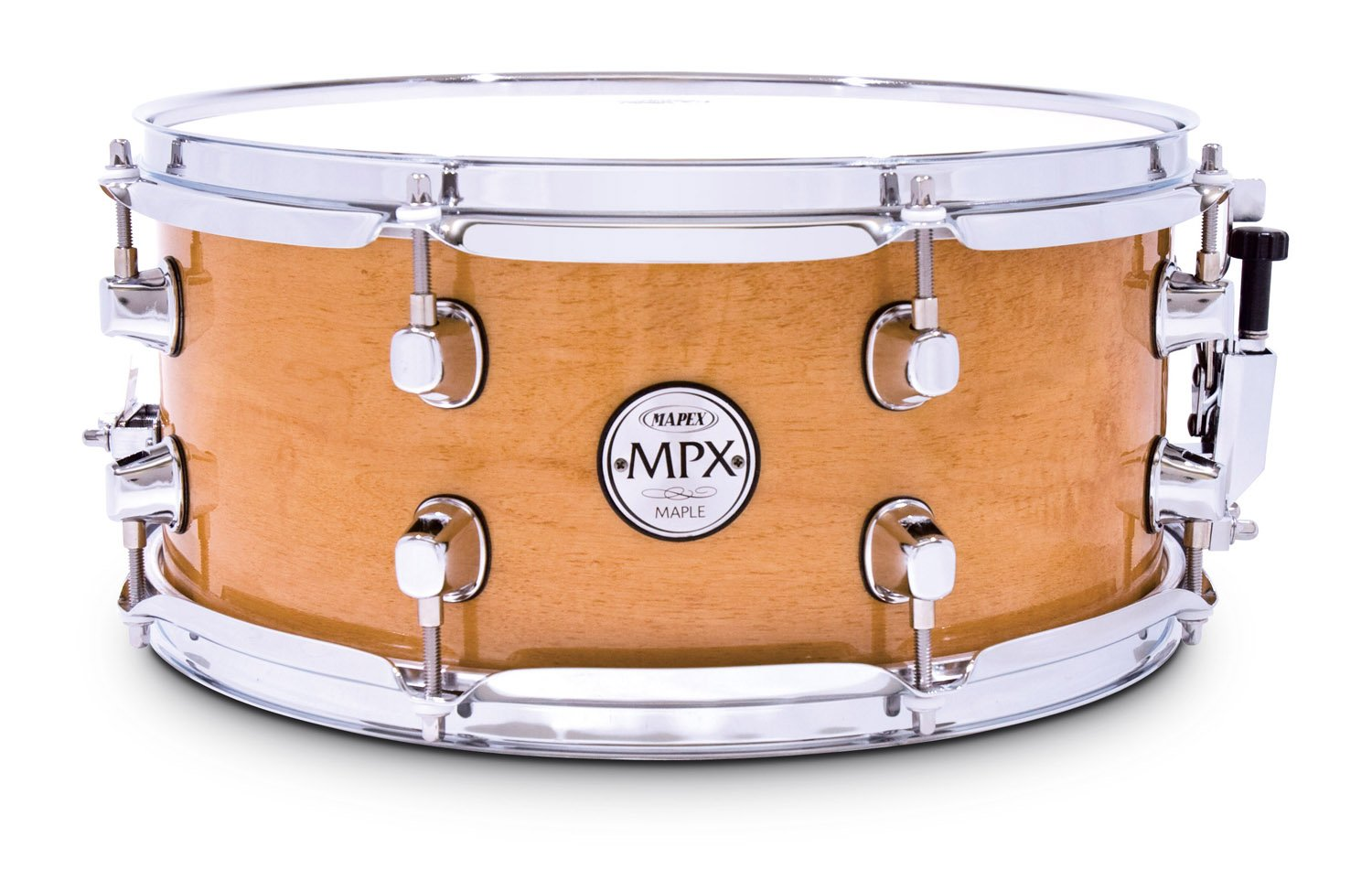 Mapex MPX 13 inch x 06 inch All maple snare drum in natural finish with chrome hardware by Mapex