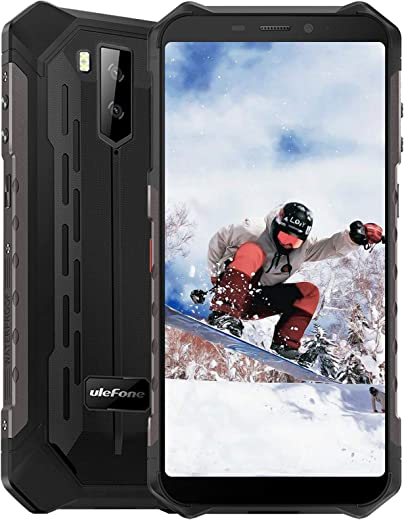 Rugged Unlocked Cell Phones Ulefone Armor X5, 5000mAh Battery 5.5Inch 3GB 32GB(up to256GB) 4G Unlocked Smartphones, IP68 Waterproof Dual SIM Android 9.0 Face ID NFC OTG Mobile Phones Black
