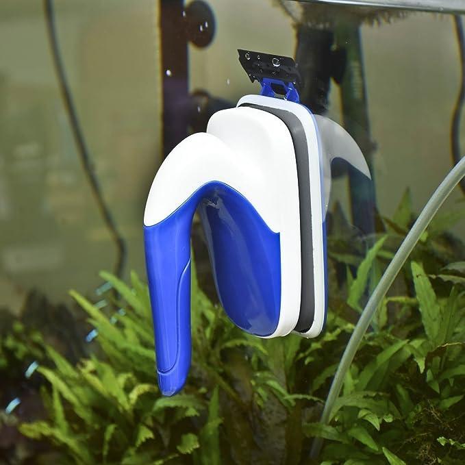 wangxinl Acuario magnética cepillo cristal algas rascador limpiador ...