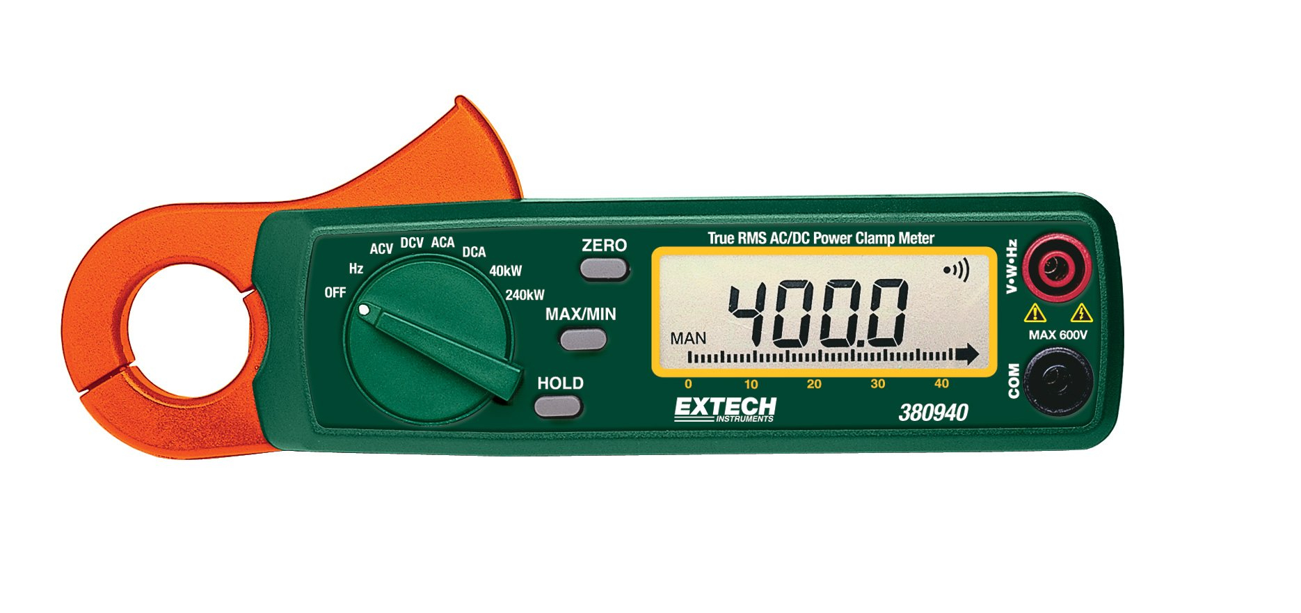 Extech 380940 True RMS 400A AC/DC Power Clamp Meter