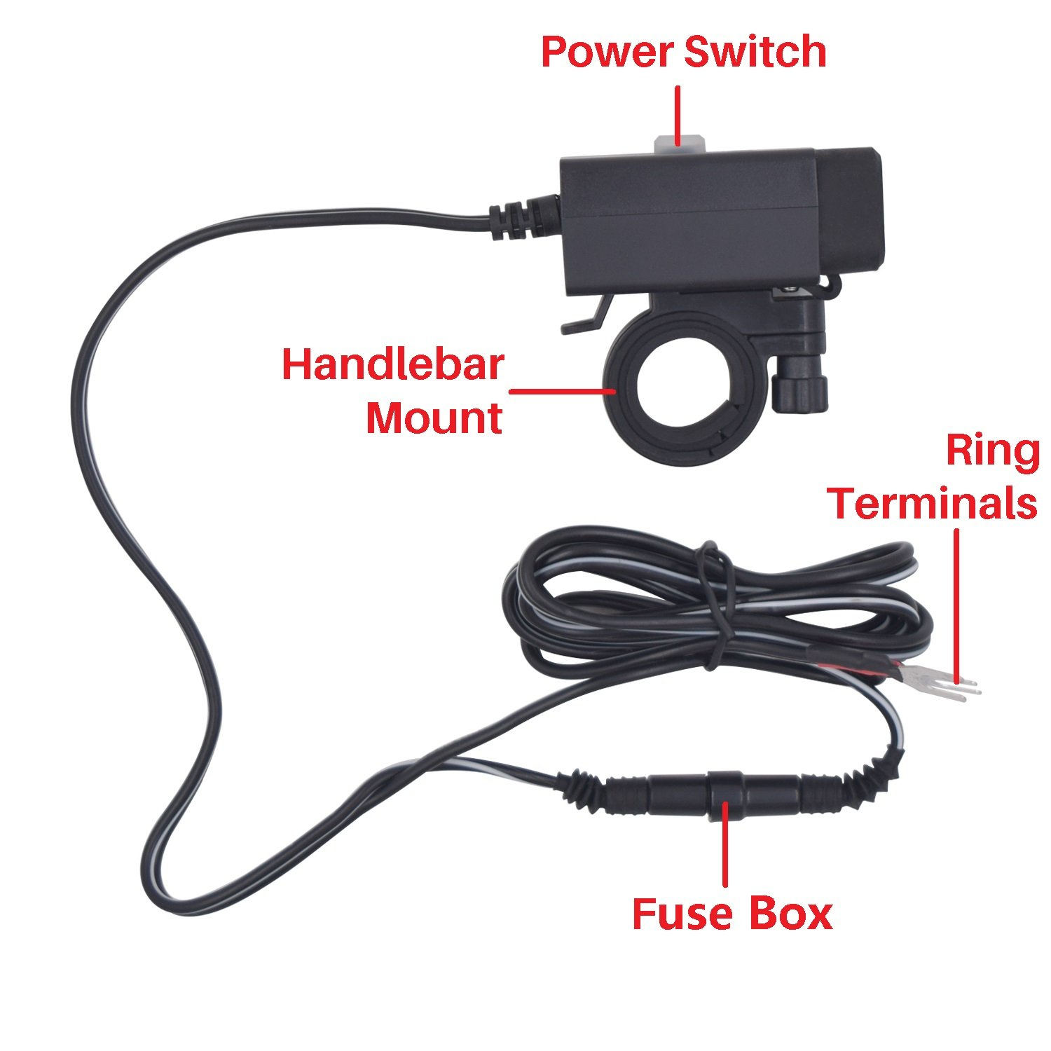 Aileap Waterproof Motorcycle USB Charger Adapter with Power Switch on