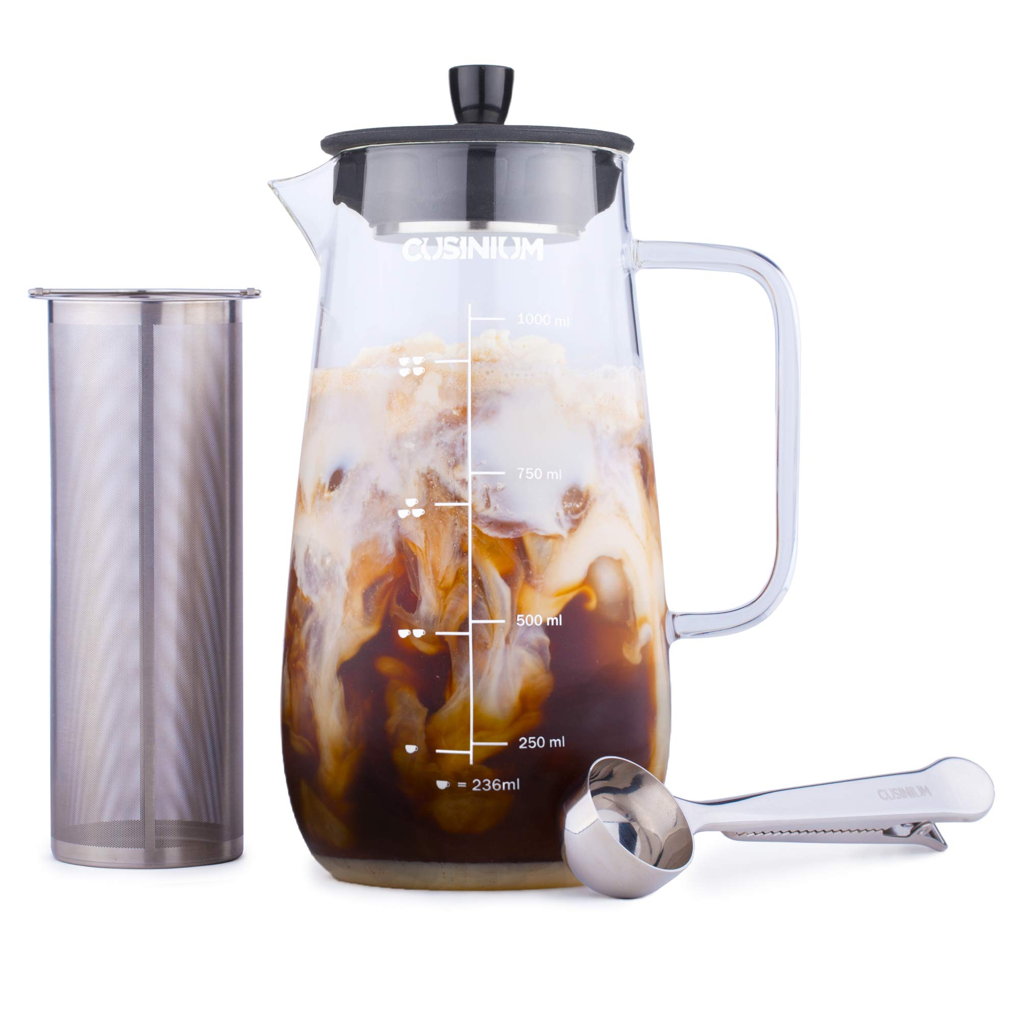 Cold Brewer - Cold Brew Kit - Iced Coffee Maker - Cold Brew Pitcher - Cold Brew Coffee Maker Large - Iced Coffee Pitcher