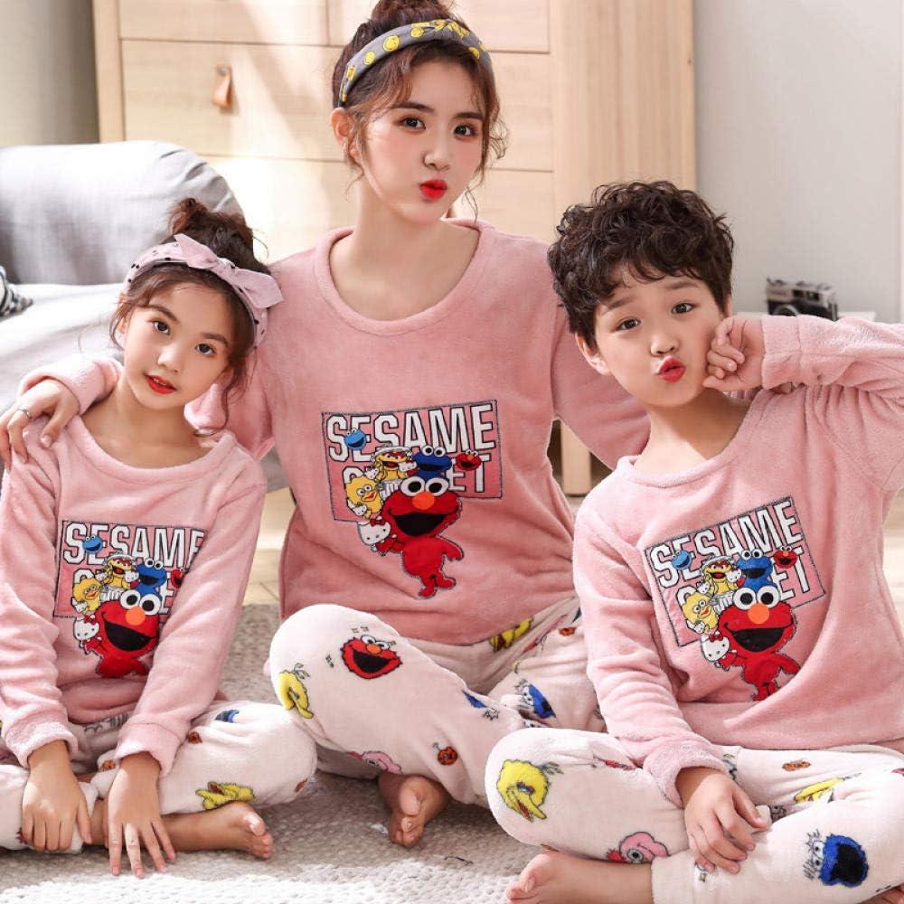 whmyz Padre-hijo pijamas pijamas temporada franela contraste ...