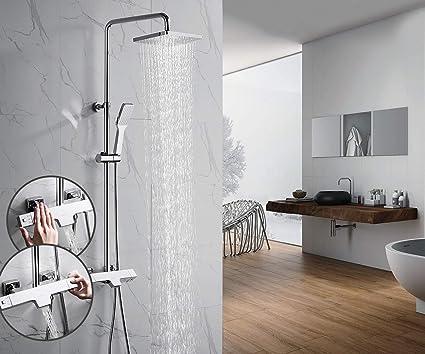 Oleah colonna doccia con miscelatore termostatico funzioni