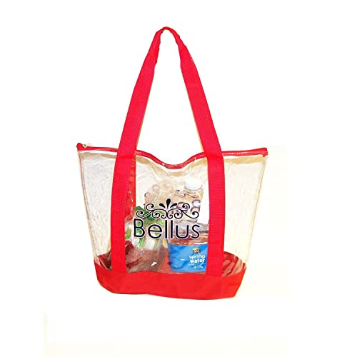 Image Unavailable. Image not available for. Color  Bellus Airport Friendly Large  Clear Zipper Tote ... 27df05604764c