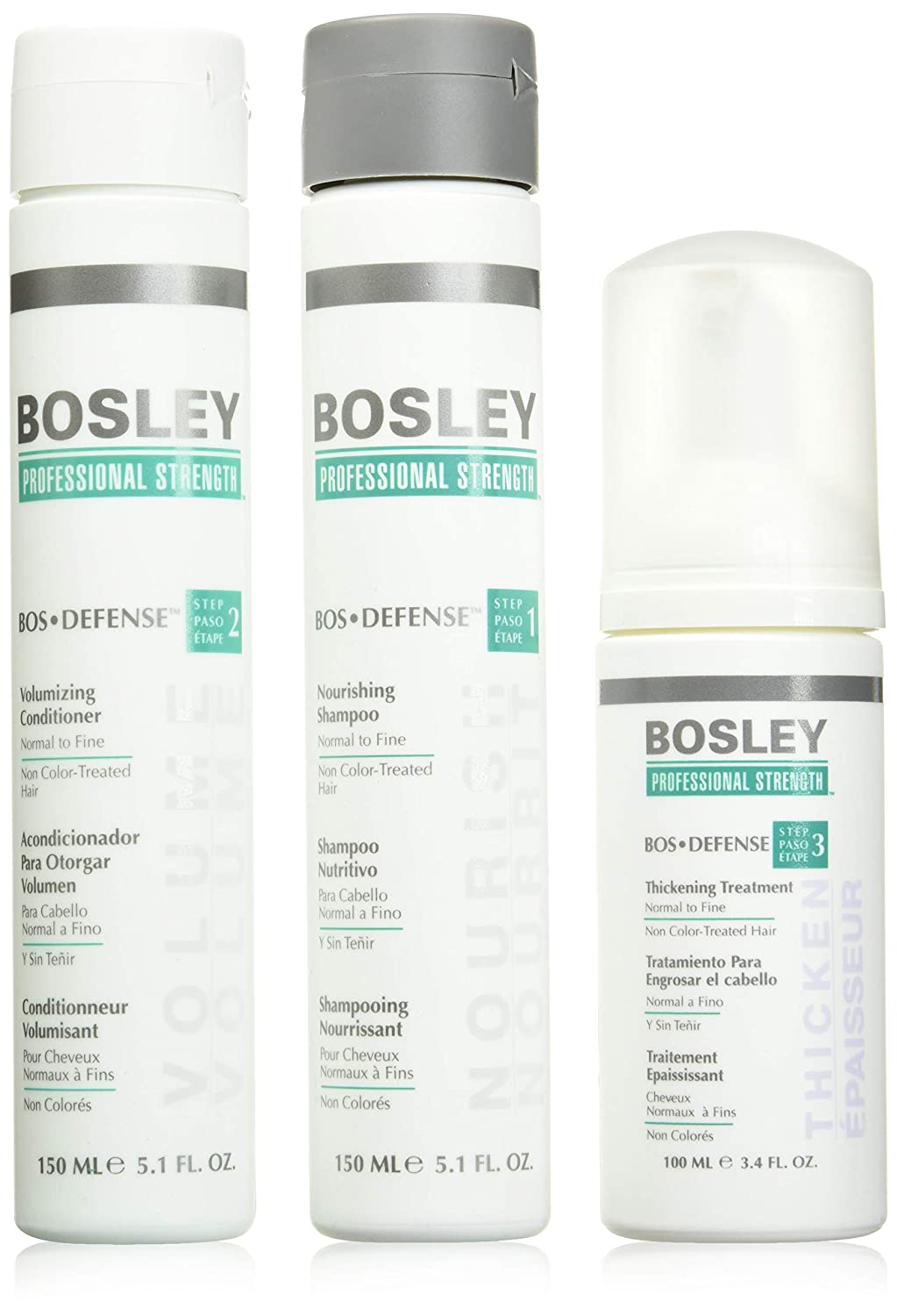 Bosley Professional Strength Bosdefense Starter Pack For Fine To Normal Hair Amazon Ca Luxury Beauty