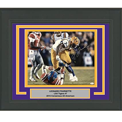 3209a8d3254 Framed Autographed/Signed Leonard Fournette LSU Tigers 16x20 Football Photo  JSA COA #4 at Amazon's Sports Collectibles Store