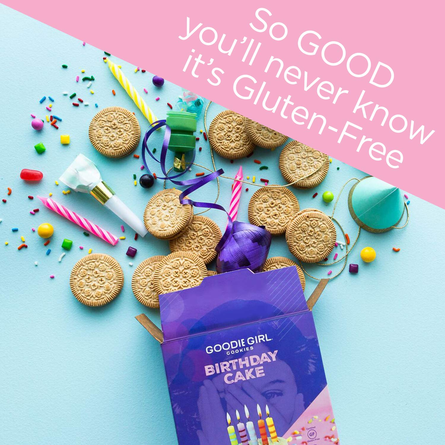 Amazon Goodie Girl Cookies Birthday Cake Sandwich Gluten Free And Peanut Delicious Snack 10oz Box Pack Of 3