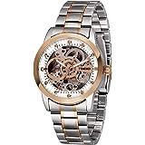Time100 Orologio da Uomo e Donna Analogico Automatico Meccanico Scheletro