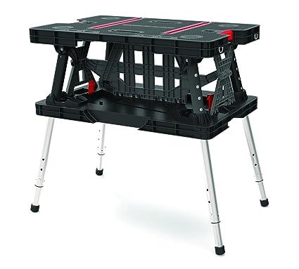 Tavolo Da Lavoro Plastica.Keter Work Table Ex Tavolo Da Lavoro Pieghevole Strumento Bank