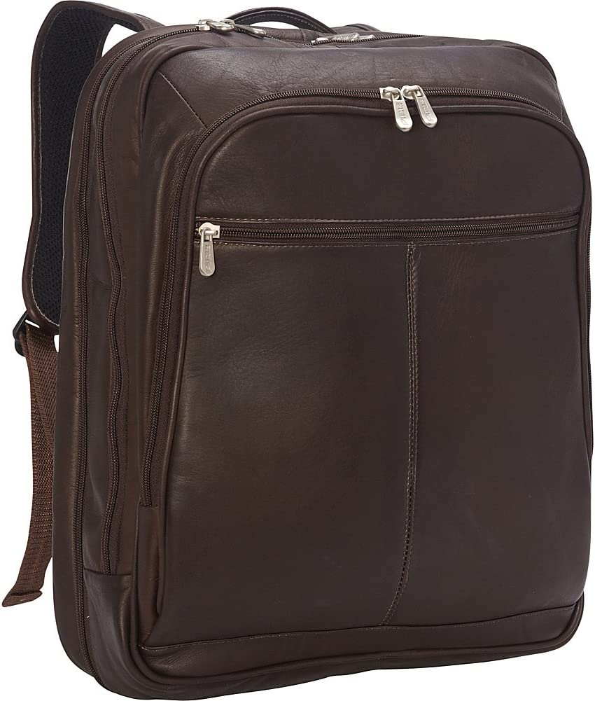 Piel Leather XL Laptop Travel Backpack, Chocolate