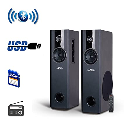 beFree Sound 2.1 Channel Surround Sound Home Theater Speaker System w//Bluetooth