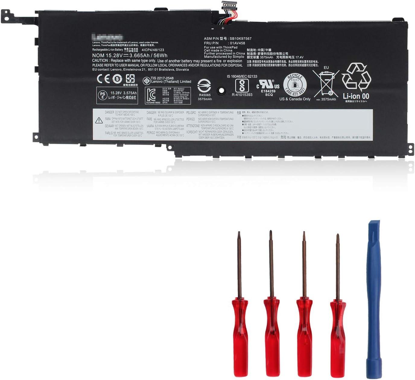 OUSIDE 01AV458 Laptop Battery Compatible with Lenovo ThinkPad X1 Carbon 4th Gen X1 Yoga 1st 2nd Gen Series Notebook 4ICP4/48/123 SB10K97567 SB10F46466 00HW029 00HW028 01AV457 SB10K97566 01AV441