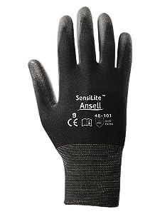 Ansell Gloves Sensilite 48101 Polyurethane Palm Coated Nylon Gloves