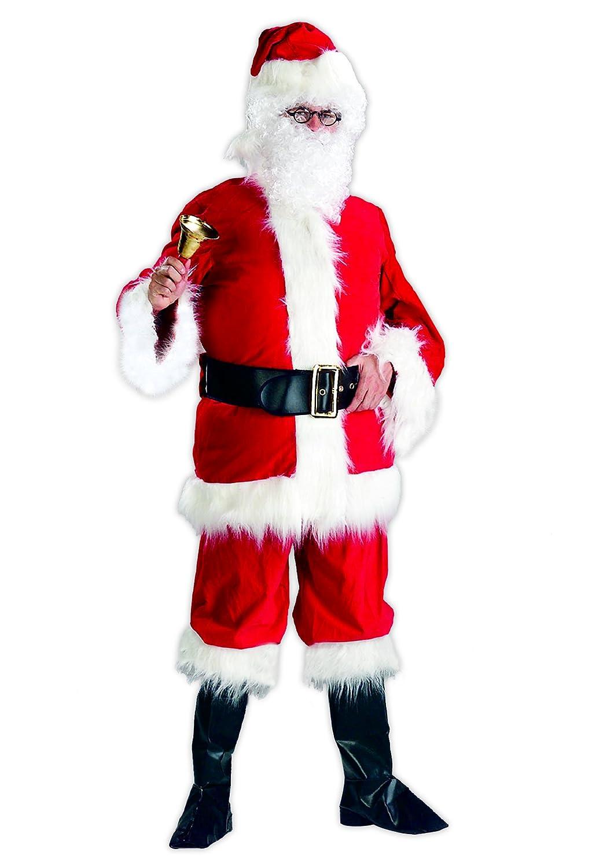 Santa Claus traje pesada tela roja XXL con correa y arranque ...