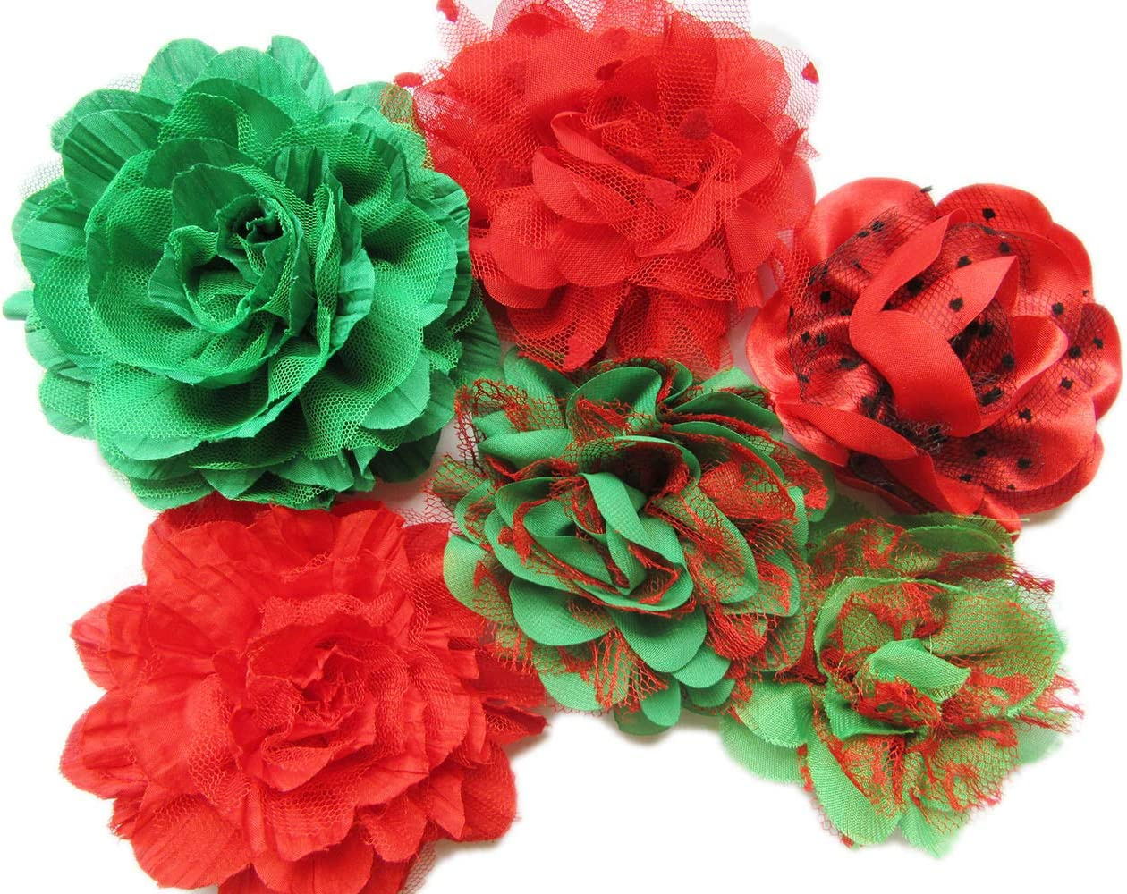 Fabric Flowers Decor Crafts Embellishments Bundle