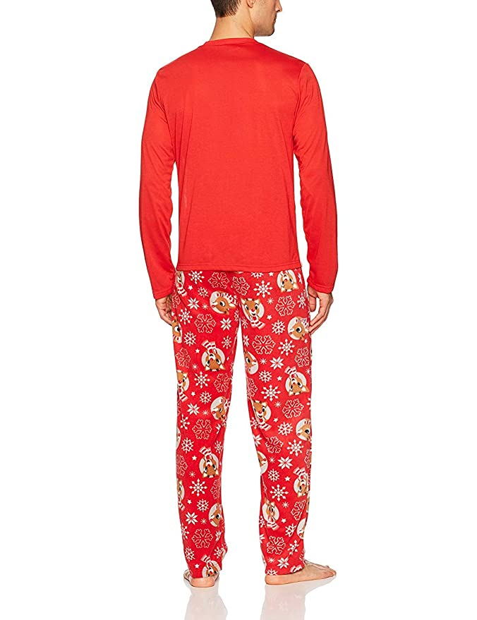 c212e41709 Rudolph the red nosed reindeer christmas holiday family sleepwear jpg  676x879 Matching pijamas nerdy couples
