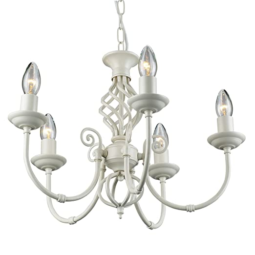 Traditional classic knot twist 5 light cream chandelier ceiling traditional classic knot twist 5 light cream chandelier ceiling light fitting lighting mozeypictures Images