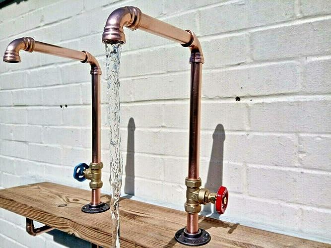 1 X Copper Pipe Swivel Tap Rustic Vintage Industrial