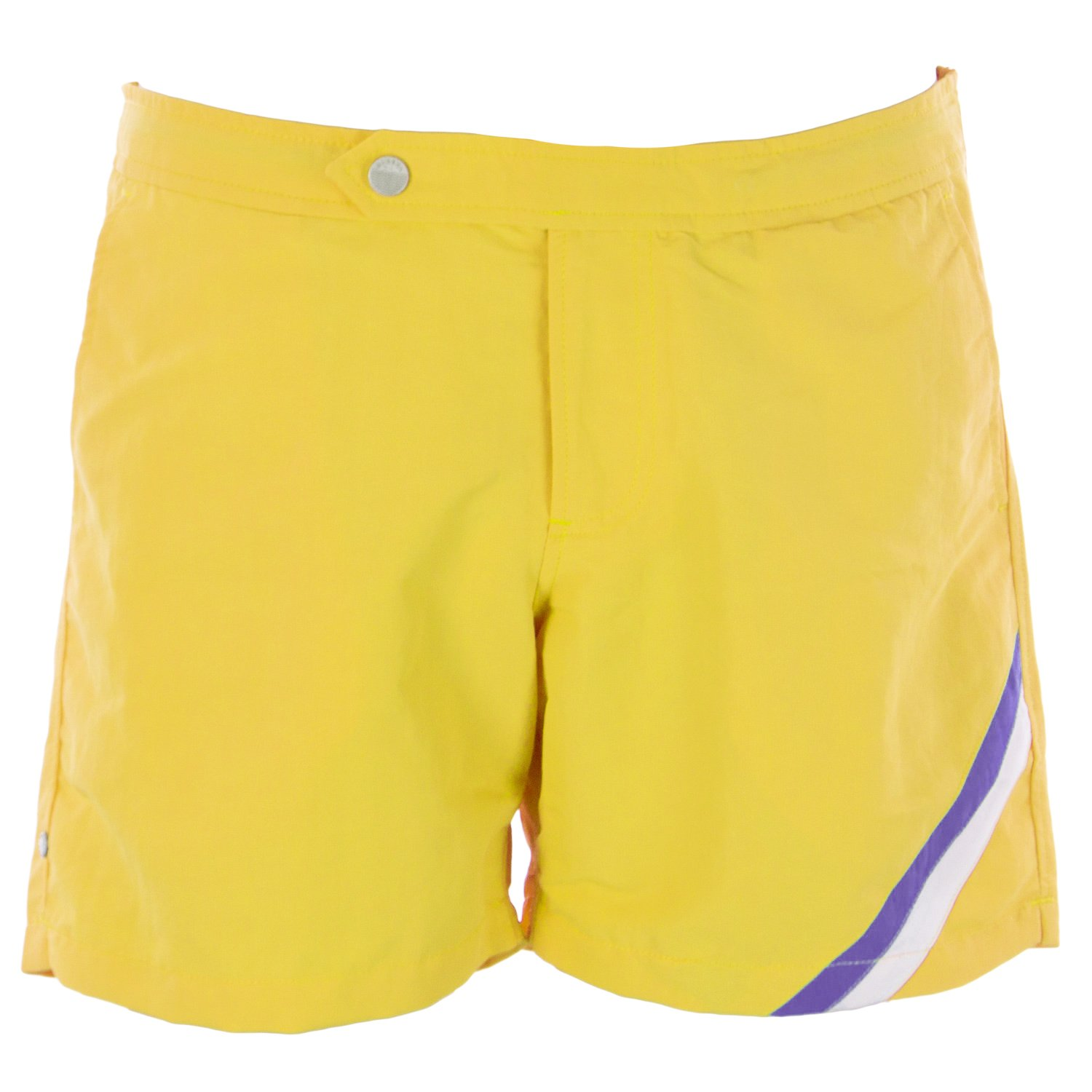Olasul Men's 6'' Solid Swim Trunks 38 Yellow