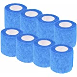 Mcree Pack of 8 Non-Woven Self Adhesive Wrap Bandages, Strong Elastic Self Adherent Cohesive Tape Bandages Rolls