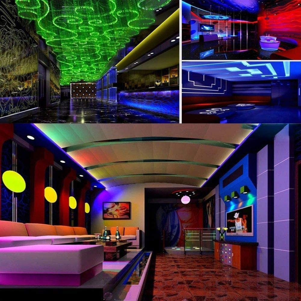 GXLONG Led Strip Lights 32.8ft 10M with 44 Keys IR Remote and 12V Power Supply Flexible Color Changing 3528 RGB 300 LEDs for Home Party DIY Decoration Kitchen Bedroom Outdoor Indoor