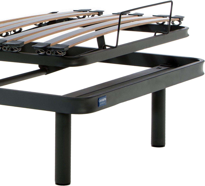 Gerialife® Cama Articulada Eléctrica Reforzada (90x190, Gris ...