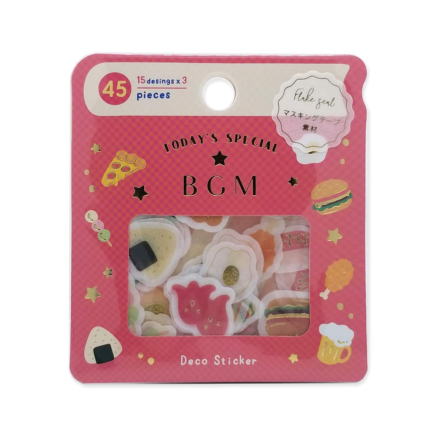 BGM Flake Stickers Flake Seal Foil Stamping - Little Food (Washi Tape Material) - for Scrapbooking Art Craft DIY