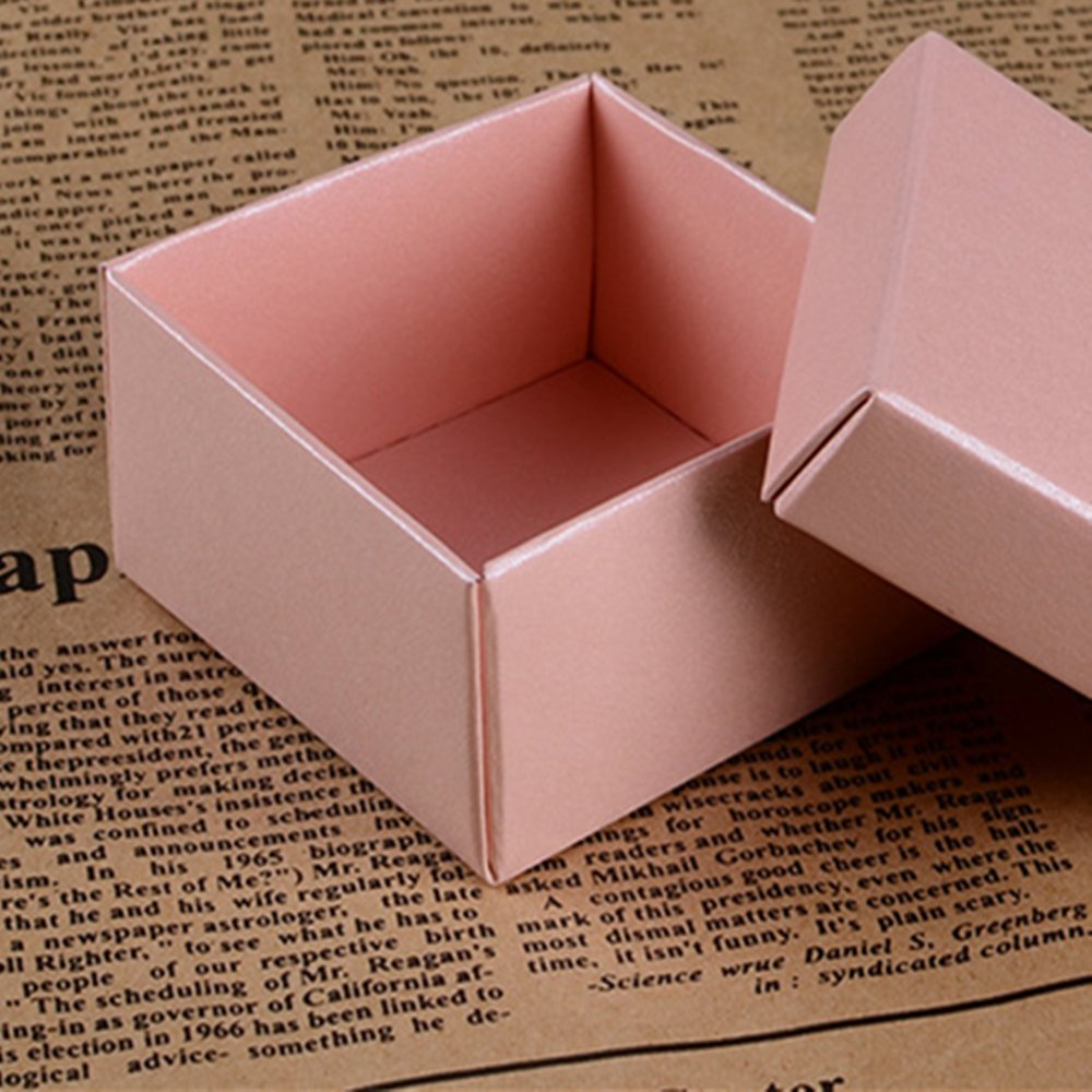 Blanco 25pcs Cajas de Dulce Regalo Caso de Pendiente Anillo Exhibici/ón Joyer/ía Papel Cuadrados
