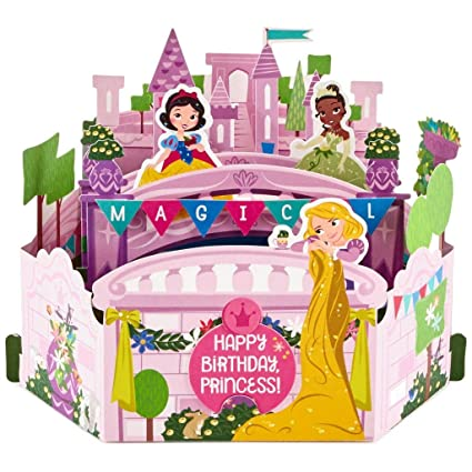 Image Unavailable Not Available For Color Hallmark Disney Princesses Magical Pop Up Birthday Card